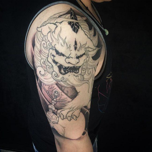 foo dog tattoo16