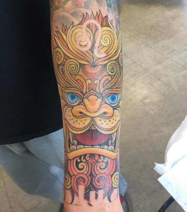 foo dog tattoo20