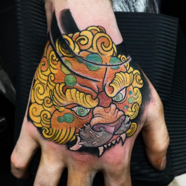 foo dog tattoo23