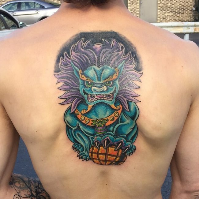 foo dog tattoo25