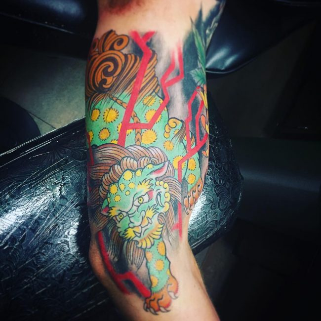 foo dog tattoo26