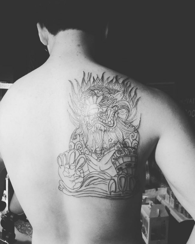 foo dog tattoo27