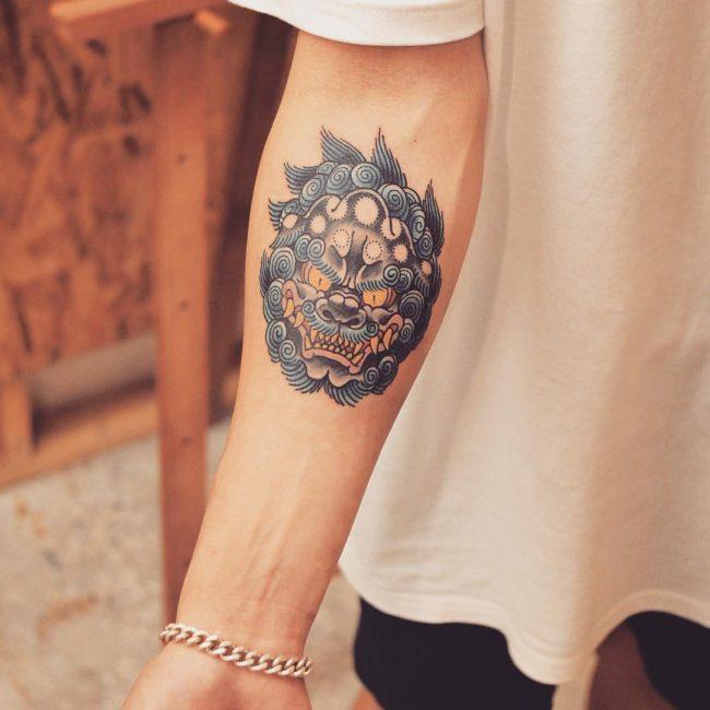 foo dog tattoo3