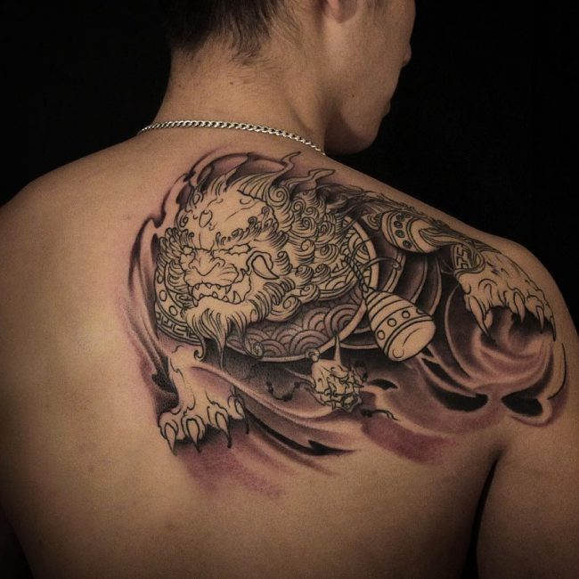 foo dog tattoo35