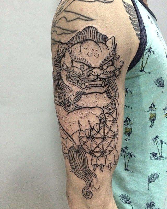 foo dog tattoo36