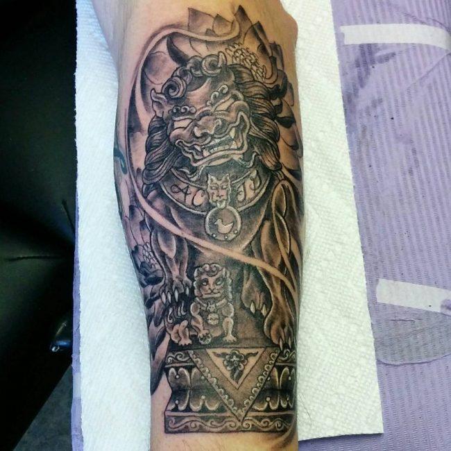 foo dog tattoo37