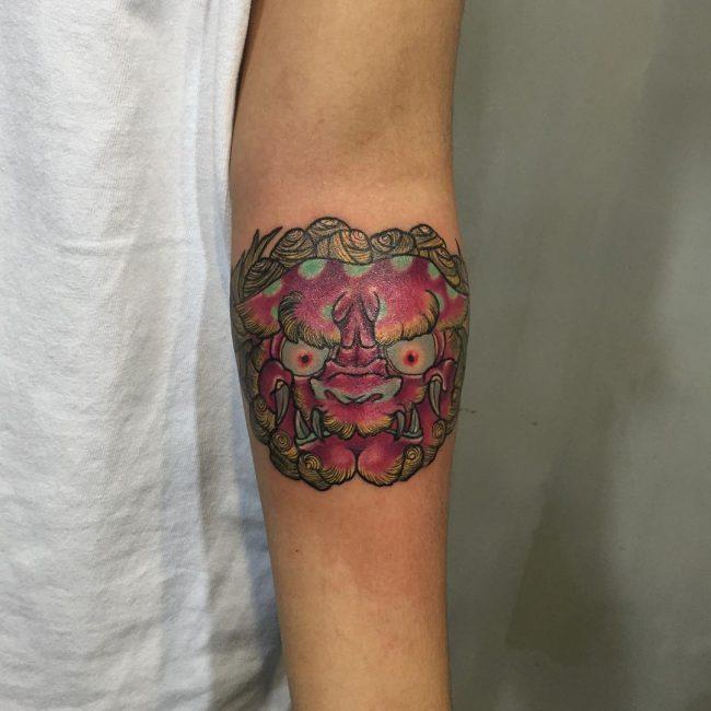 foo dog tattoo38