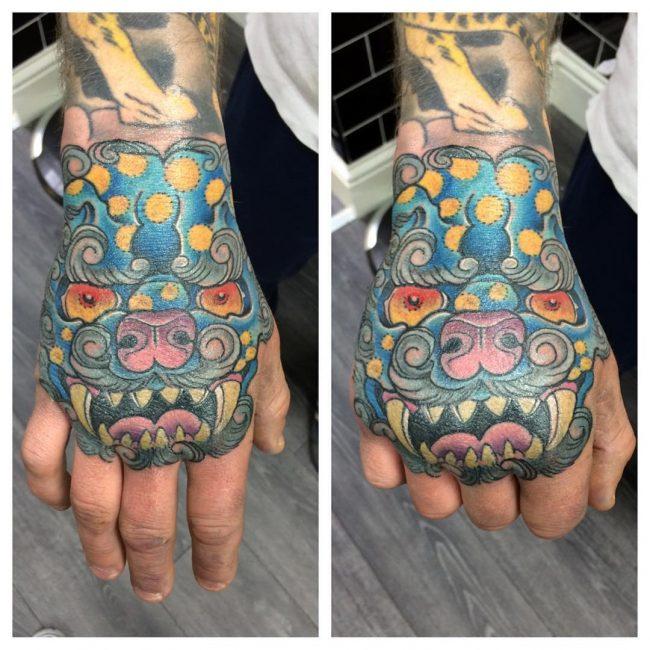 foo dog tattoo40