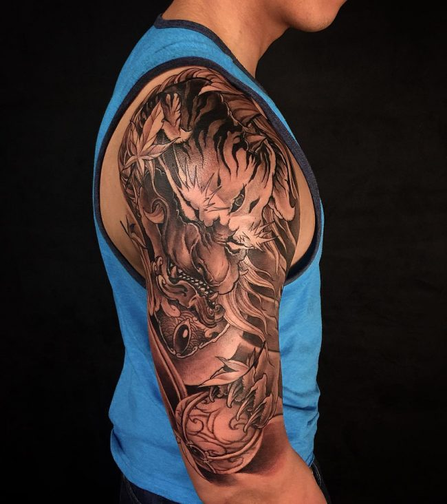 foo dog tattoo42