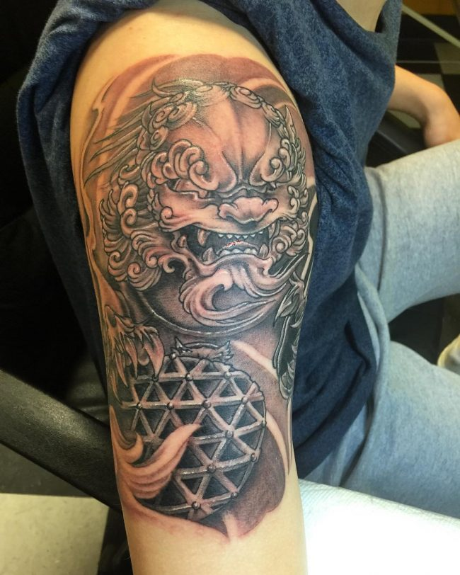 foo dog tattoo44