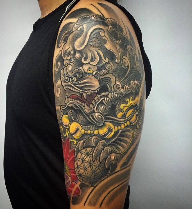 foo dog tattoo46