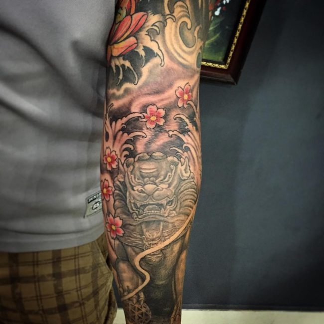 foo dog tattoo47