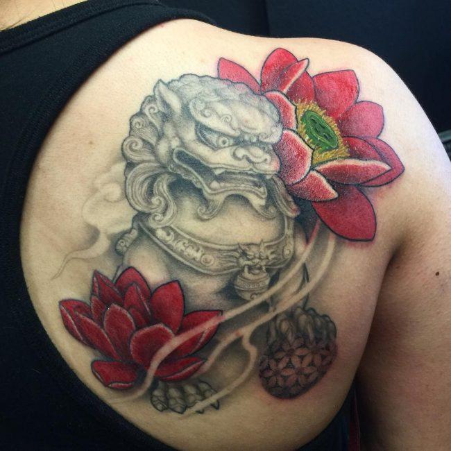 foo dog tattoo48