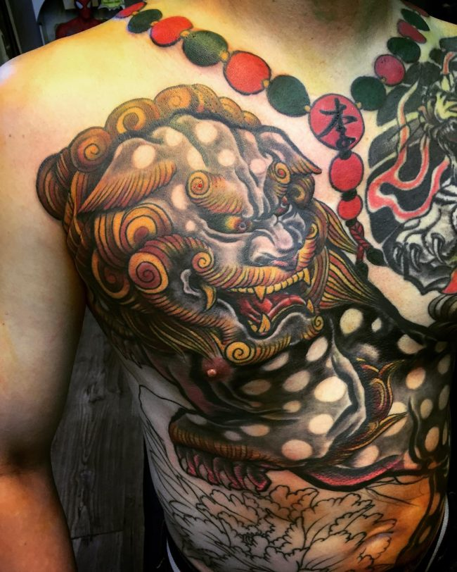 foo dog tattoo5