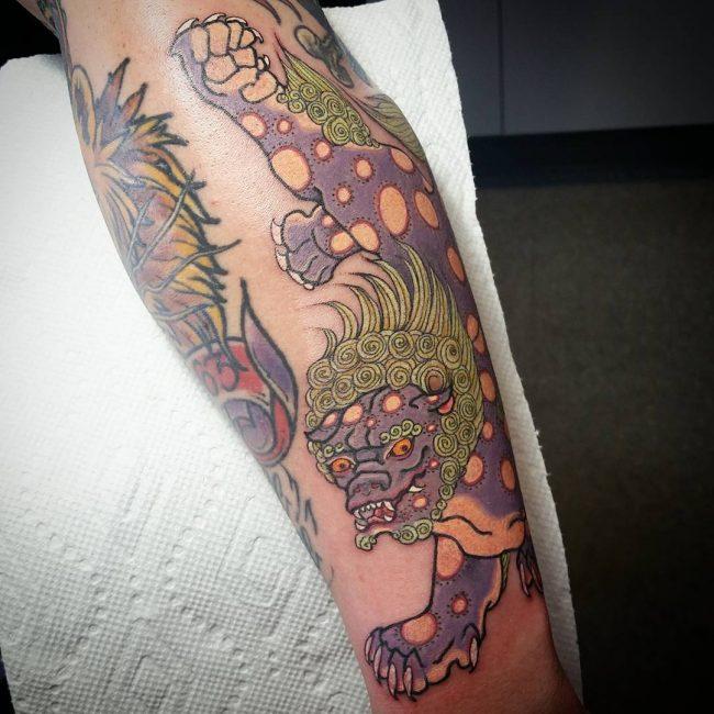 foo dog tattoo7