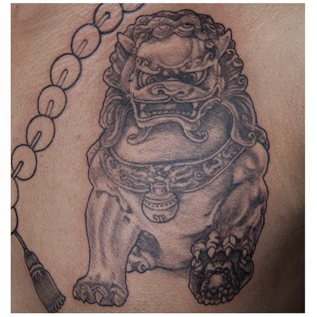 foo dog tattoo8