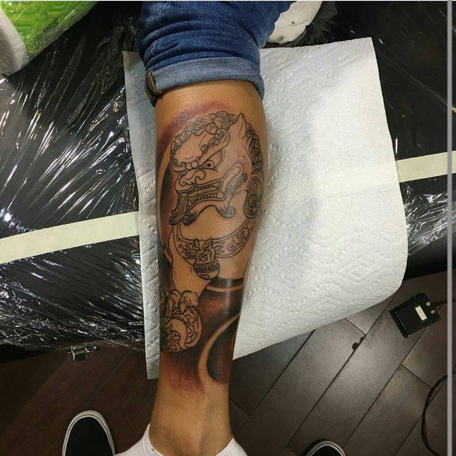 foo dog tattoo9