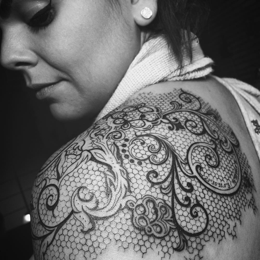 95 Cute Lace Tattoo Designs You Have Never Been So Pretty Before