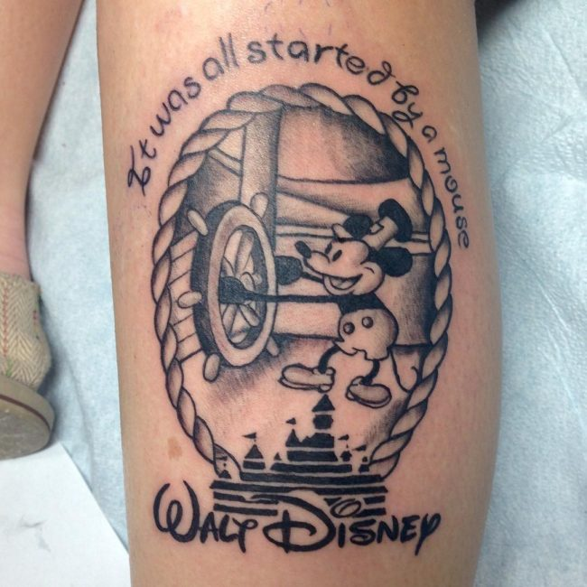 mickey and minnie mouse tattoo19