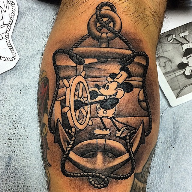 mickey and minnie mouse tattoo23