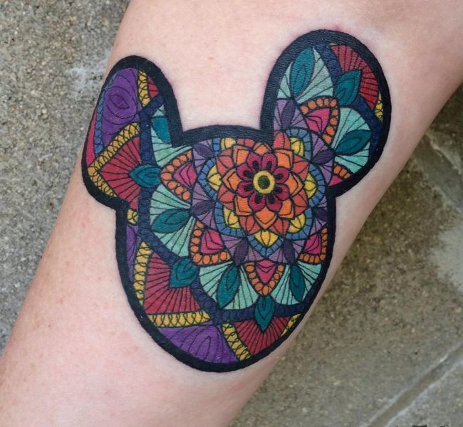 mickey and minnie mouse tattoo26
