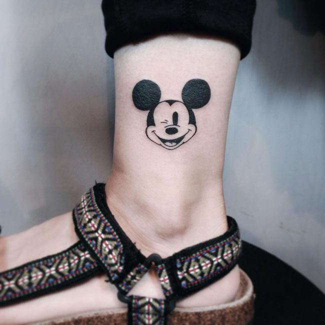 mickey and minnie mouse tattoo33