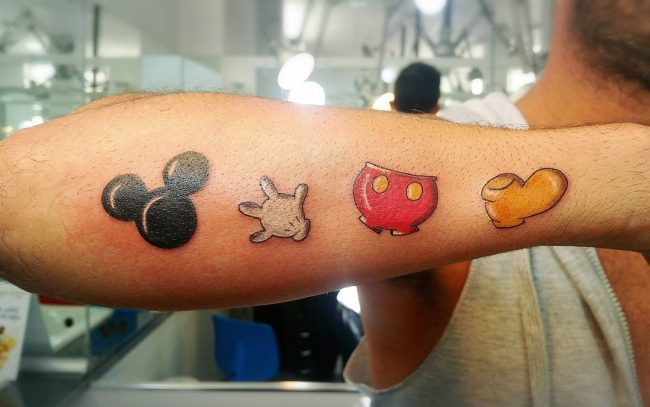 mickey and minnie mouse tattoo36