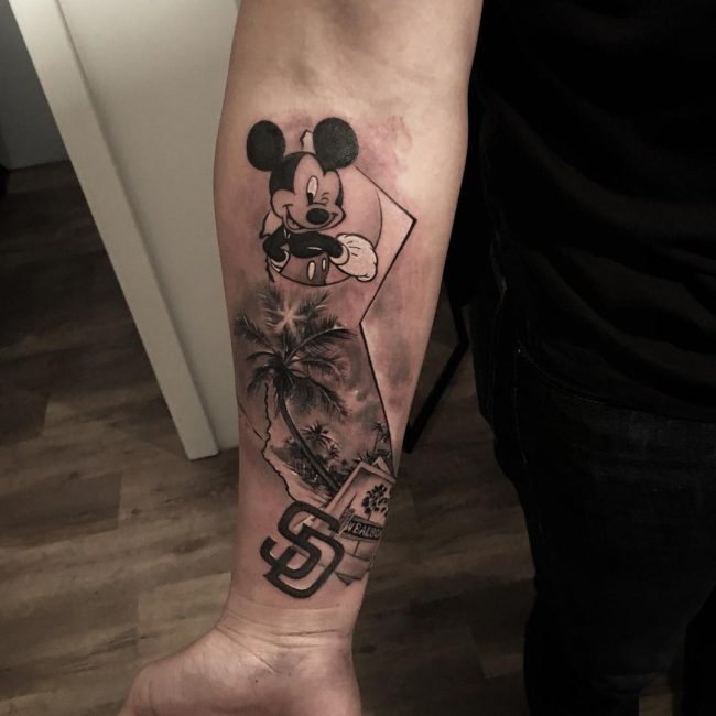 mickey and minnie mouse tattoo37