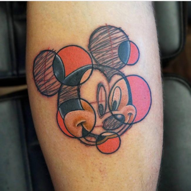 mickey and minnie mouse tattoo5