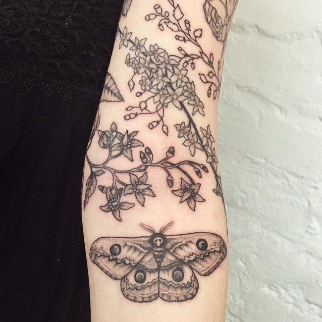 moth tattoo30