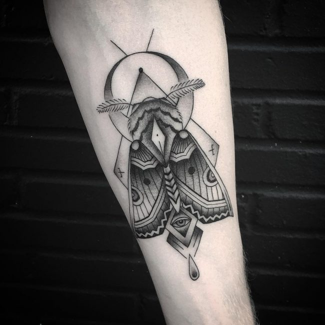 moth tattoo34