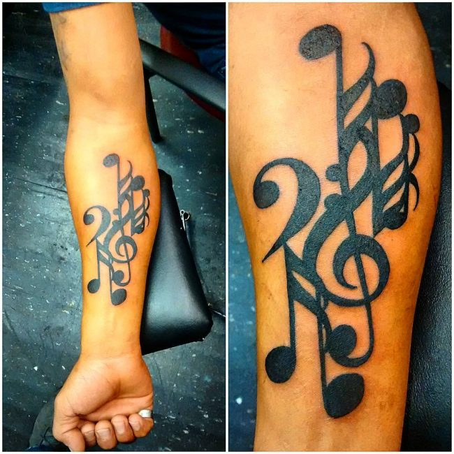 music note tattoo11