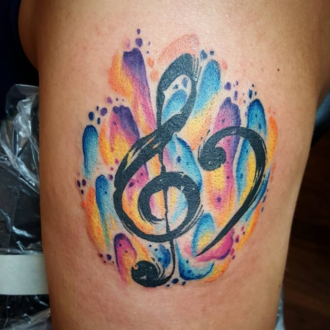 music note tattoo7