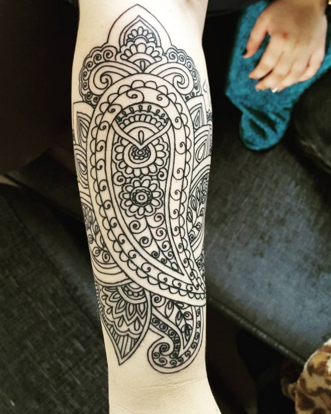 paisley tattoo30