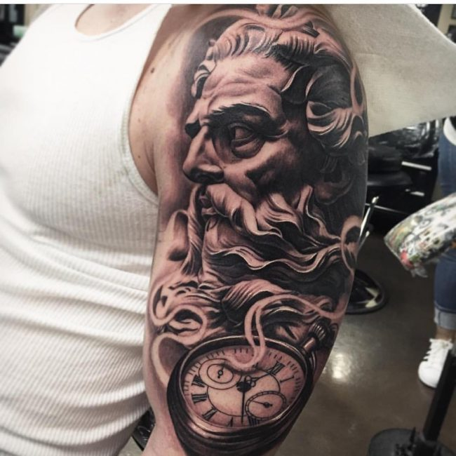 pocket watch tattoo10