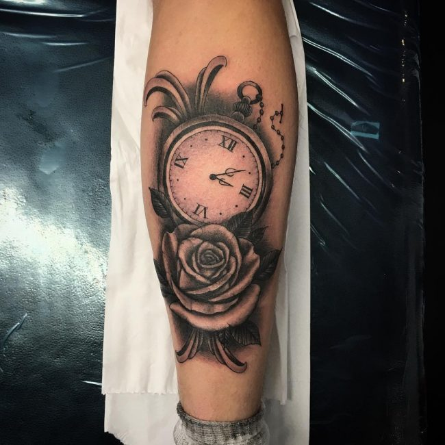 pocket watch tattoo13