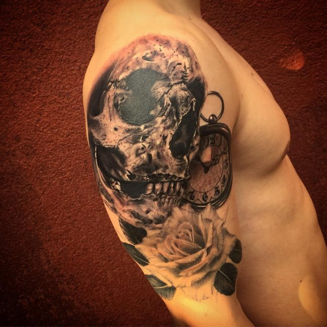 pocket watch tattoo18