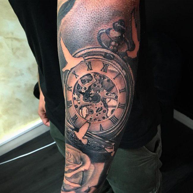 pocket watch tattoo2