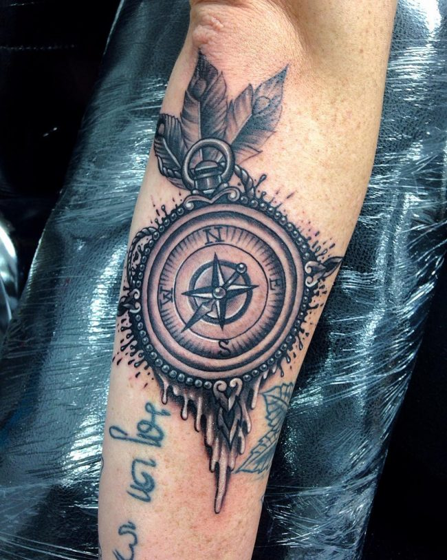 pocket watch tattoo23