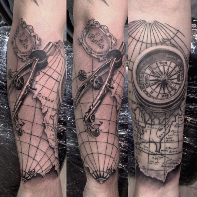 pocket watch tattoo24