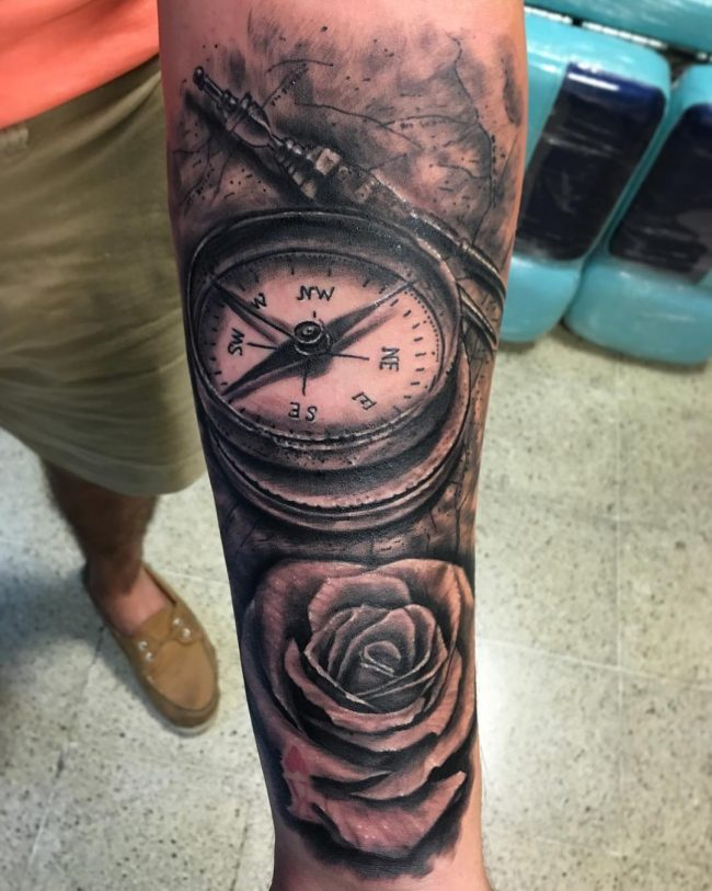 pocket watch tattoo25