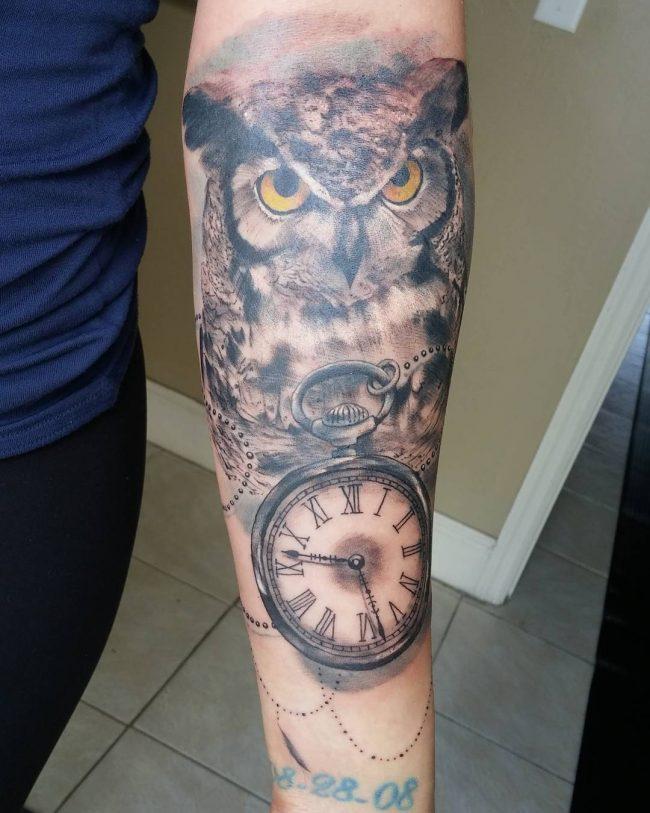 pocket watch tattoo27