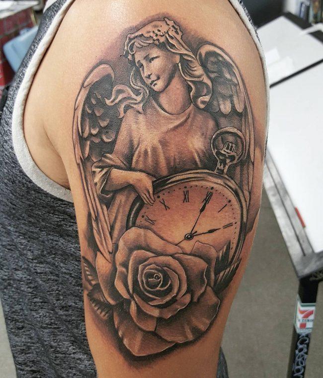pocket watch tattoo3