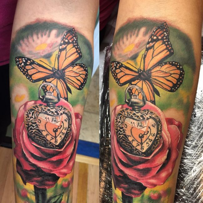 pocket watch tattoo34