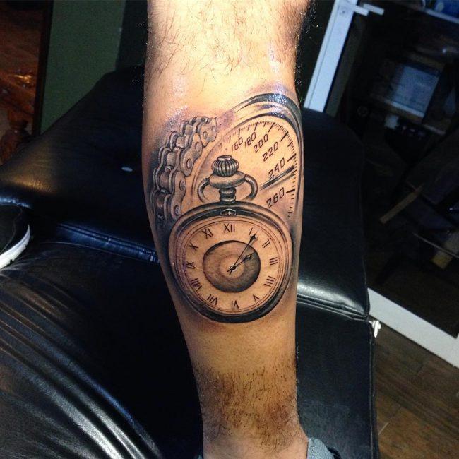 pocket watch tattoo37