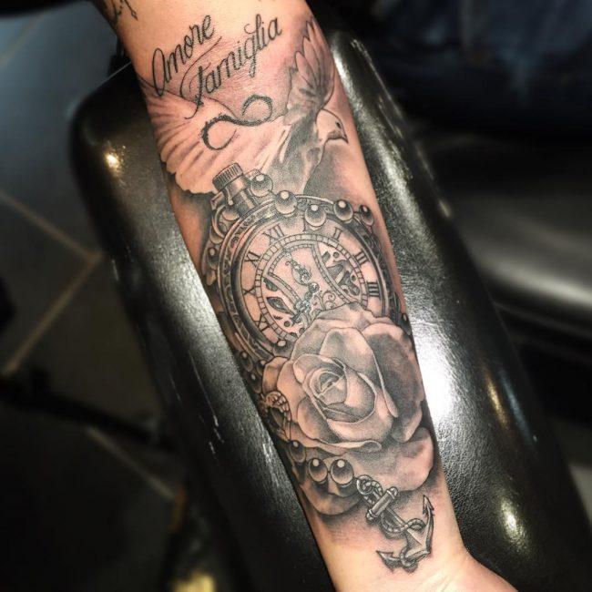 pocket watch tattoo4