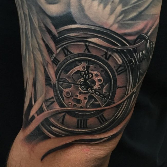 pocket watch tattoo5