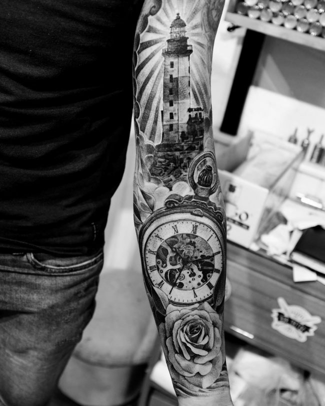 pocket watch tattoo51