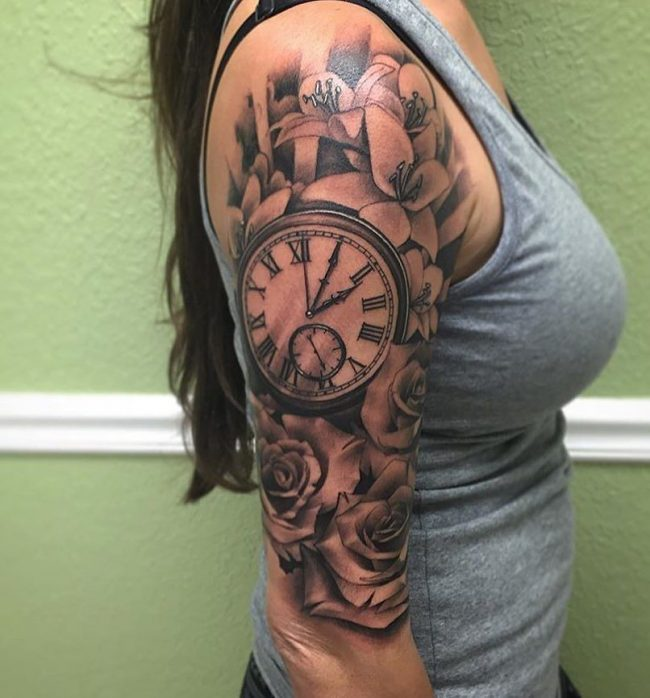pocket watch tattoo53