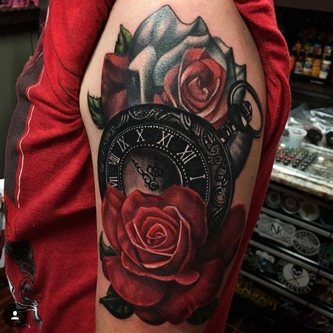 pocket watch tattoo54